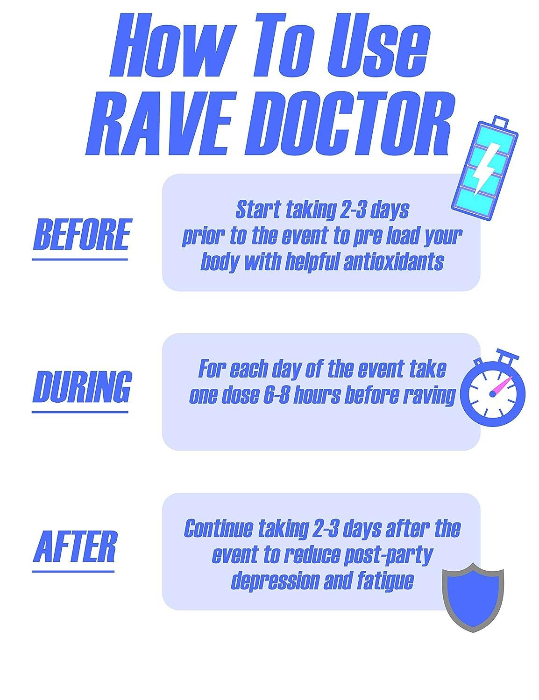 Amazon.com: Rave & Festival Hangover Prevención de la ...
