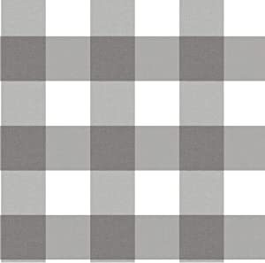 In Home NH3065 Homestead Plaid Peel and Stick Wallpaper, Grey