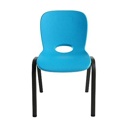 Groovy Lifetime 80472 Kids Stacking Chair 4 Pack Glacier Blue Interior Design Ideas Gentotryabchikinfo
