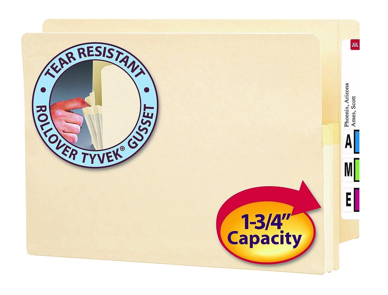 Smead End Tab Pocket Manila 25 Per Box 1.75-Inch Expansion 76114 Legal Straight