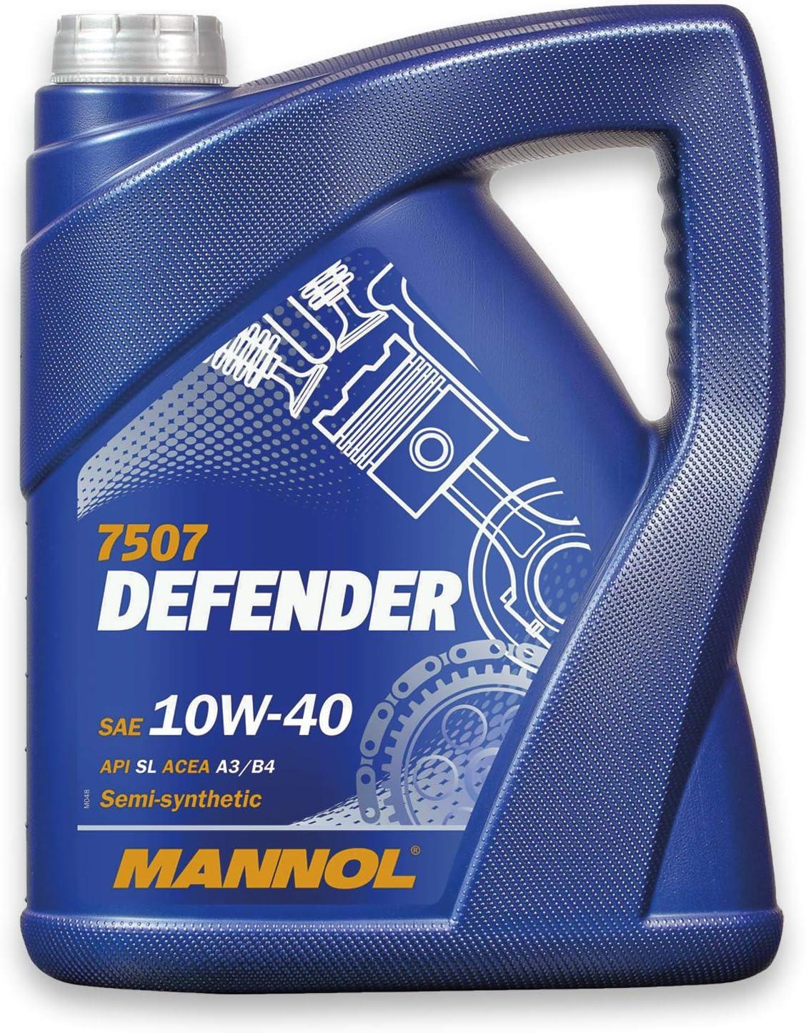 Mannol Defender Motoröl 10w 40 5 Liter Teilsynthetisch 10w 40 Api Sl Cf Acea A3 B4 Mb 229 1 501 00 505 00 Auslaufschlauch Auto