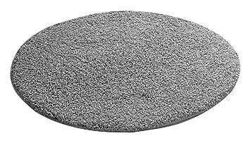 Teppich rund bunt  benuta Hochflorteppich Swirls Shaggy Langflor Grau ø 80 cm rund ...