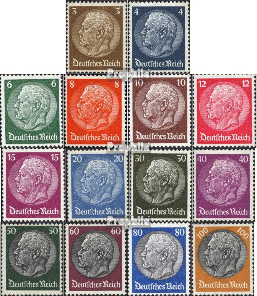 Prophila sellos para coleccionistas: alemán Imperio 482-495 (completa.edición.) con rara marca de agua Waffles matasellado 1933 Hindenburg