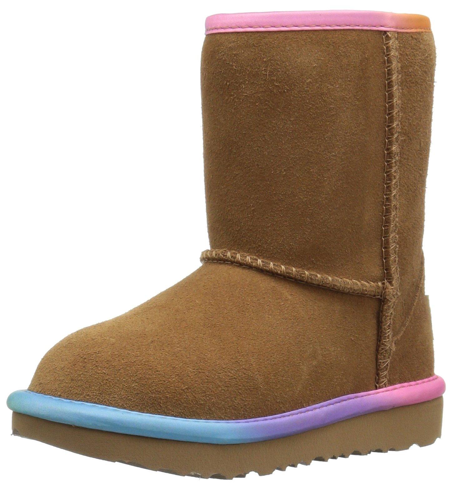 37113d26362 Galleon - UGG Girls T Classic Short II Rainbow Pull-on Boot ...
