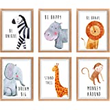 Safari Baby Animals, Baby Nursery Decor, Baby Room Decor, Playroom Wall Art Decor Prints, Boys & Girls Room, Kids…