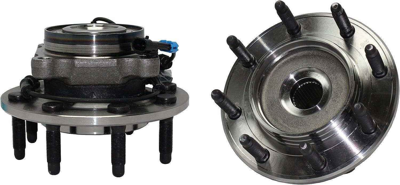 Detroit Axle - Front Wheel Hub and Bearing Assembly Pair - 8 Bolt W/ABS 515098 x2 Not For Classic Body - 2007-2010 Silverado/Sierra 2500HD - [07-09 Silverado/Sierra 3500]
