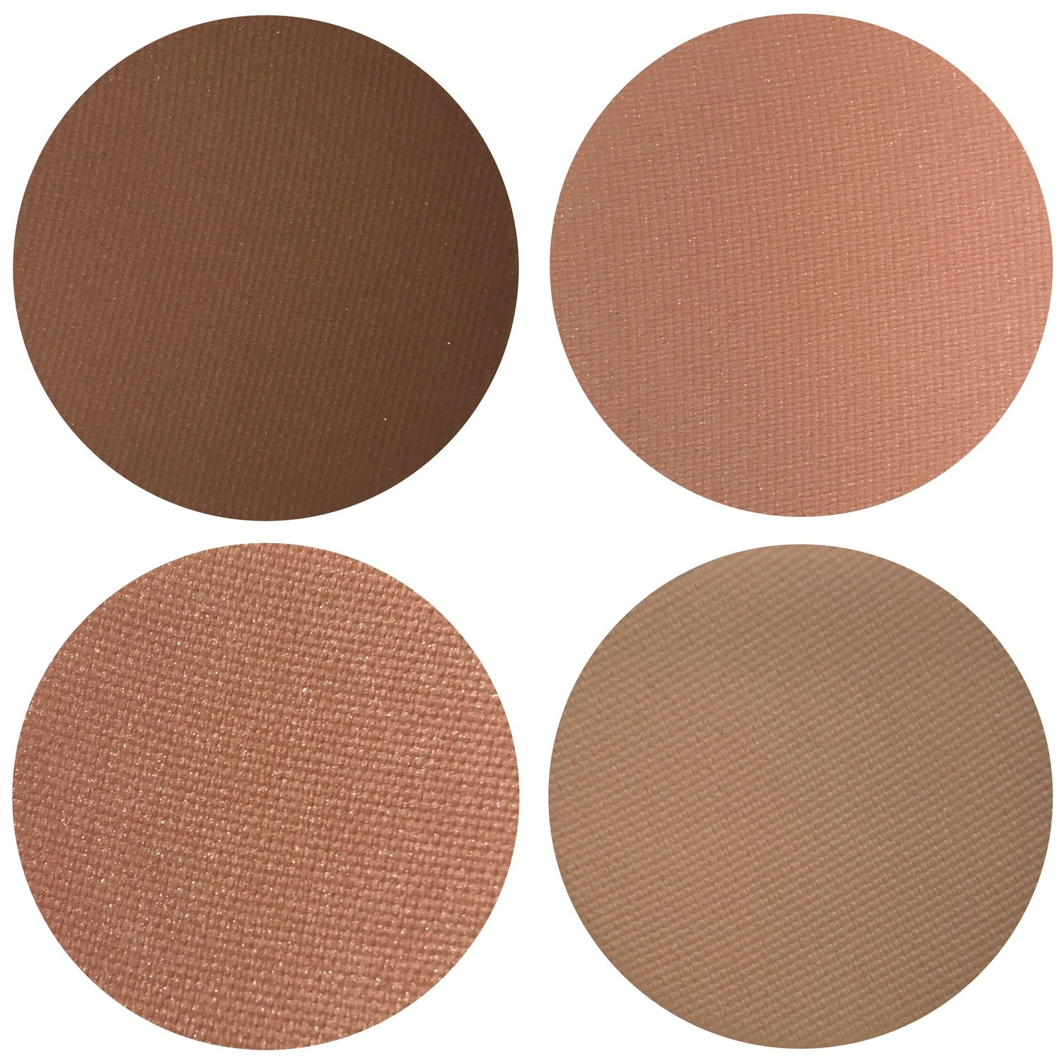 Keep It Peachy Collection Eyeshadow Quad: 4 Single Eye Shadows Makeup Magnetic Refill Pan 26mm, Paraben Free, Gluten Free, Made in the USA