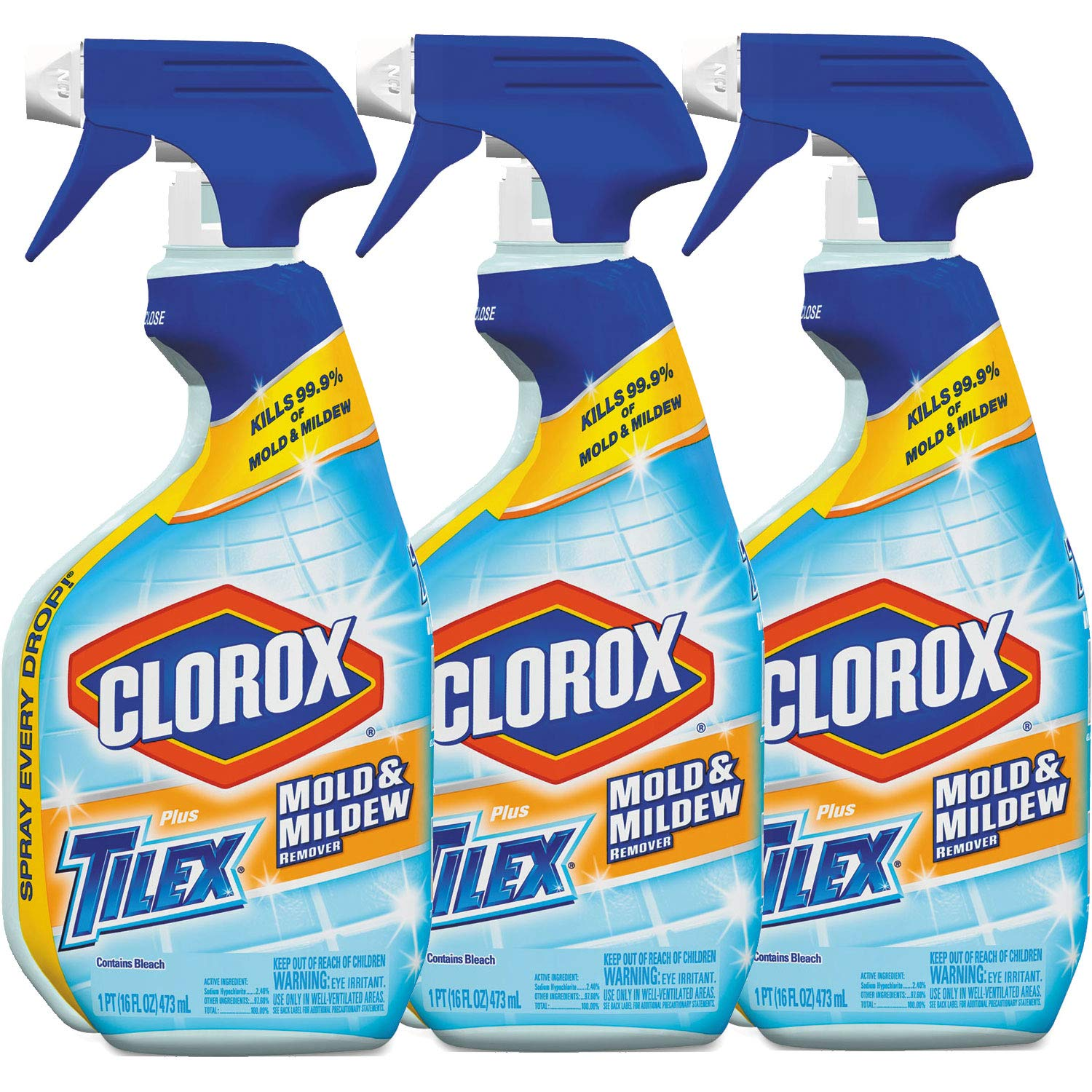 Tilex Mold and Mildew Remover Spray, 16 Fluid Ounce (Pack of 3) by TILEX