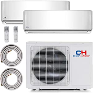 COOPER AND HUNTER Dual 2 Zone Ductless Mini Split Air Conditioner Heat Pump 9000 12000 Multi