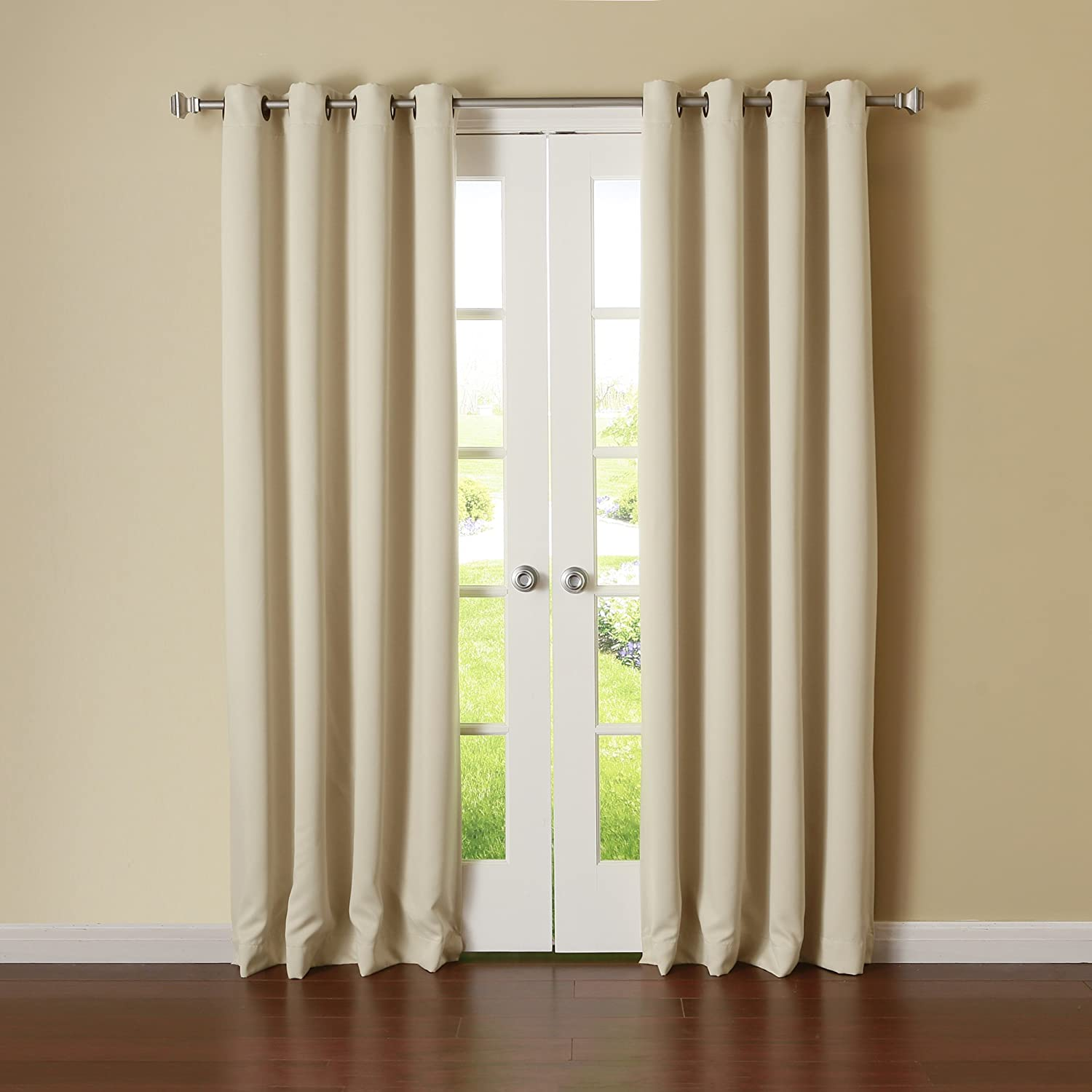 Best Home Fashion Thermal Insulated Blackout Curtains - Antique Bronze Grommet Top - Beige