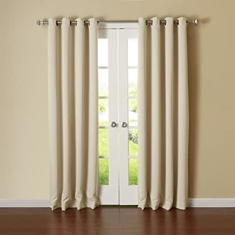 Lovely Best Home Fashion Thermal Insulated Blackout Curtains   Antique Bronze  Grommet Top   Beige   52u0026quot