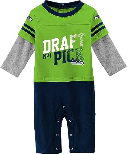 NFL Denver Broncos 1 Pack Sleep N Play Suit Romper Bodysuit Jumpsuit Baby