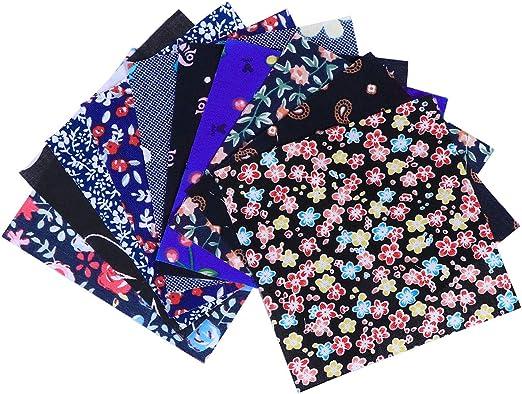 Artibetter 10 piezas de algodón acolchado de tela de algodón cuadrado tela diy patchwork (negro): Amazon.es: Hogar