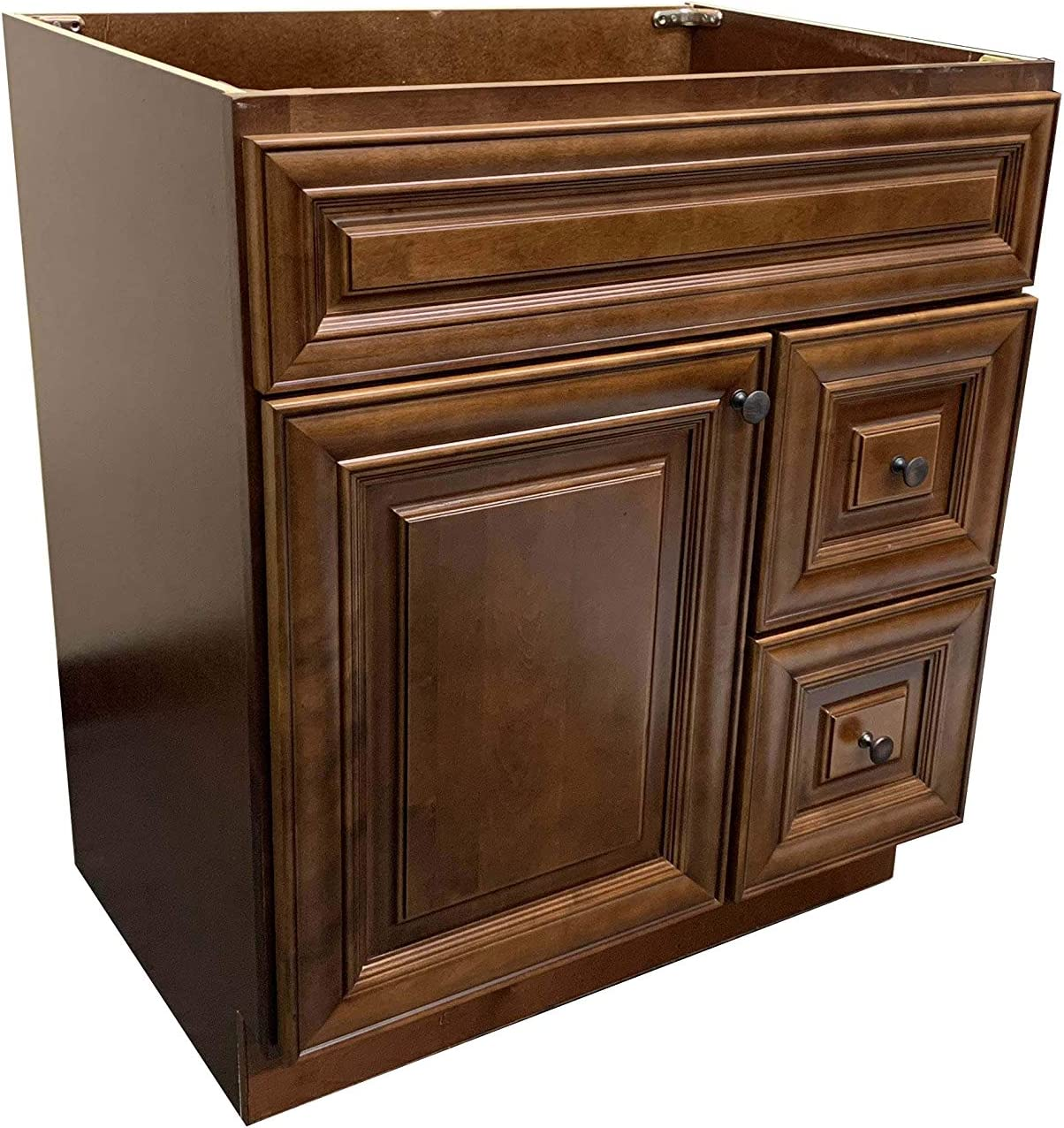 New Maple walnut Single-sink Bathroom Vanity Base Cabinet 30 Wide x 21 Deep MW-V3021DLR