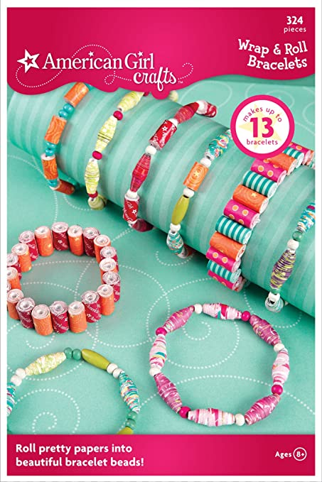 a4db5a8c3 Amazon.com: American Girl Crafts Bracelet Kit, Wrap Roll: Arts, Crafts &  Sewing