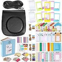 Neewer 56 en 1 Kit Accesorios para Fujifilm Instax Mini 70(Negro), Incluye: Caja Cámara con Correa, Varios Marcos, Álbum Libro, Filtros Color, Etiquetas Engomadas Esquina Instantáneas Película