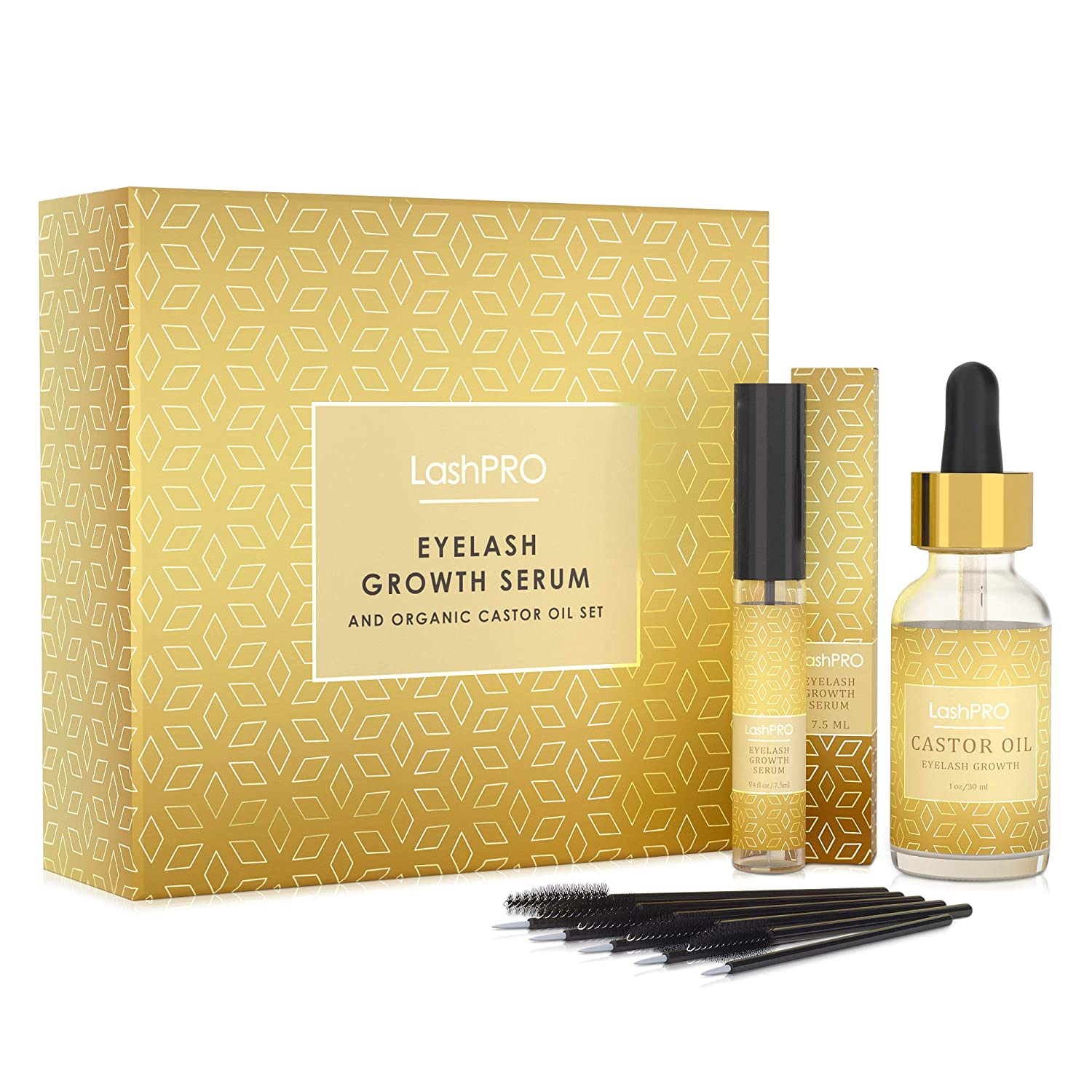 Eyelash Growth Enhancer & Brow Serum with Biotin & Natural Growth Peptides for Long, Thick Lashes and Eyebrows
