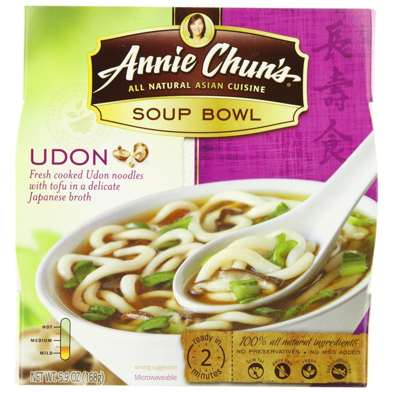 Annie Chun's Udon Soup Noodle Bowl, 5.9 Ounce (Pack of 6)