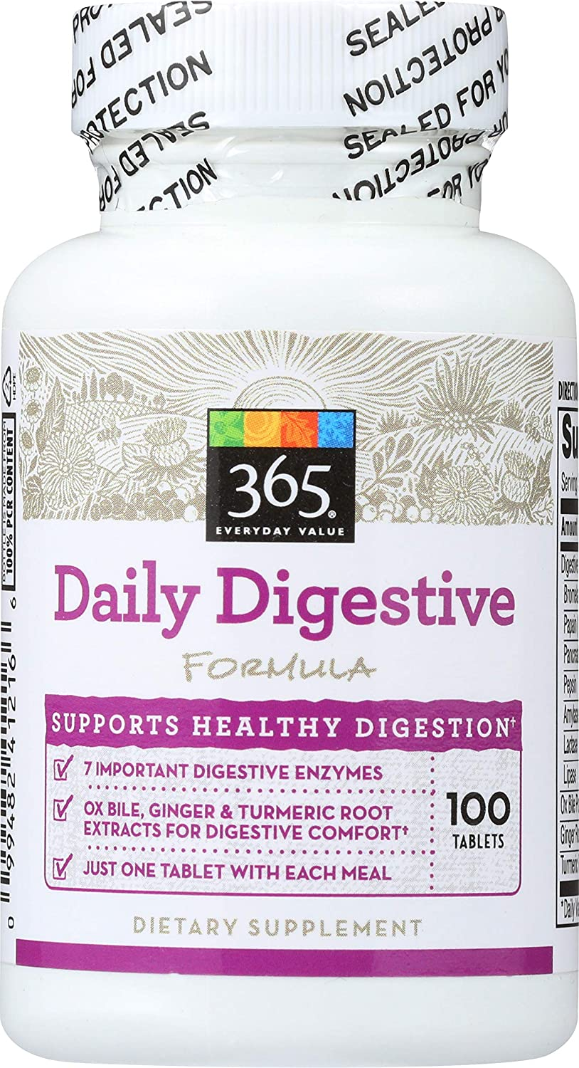365 Everyday Value, Daily Digestive Formula, 100 ct