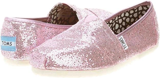 Amazon.com: TOMS Classics Glitter Pink