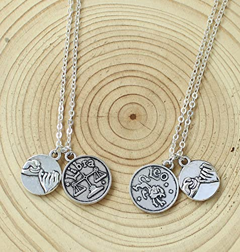 Amazon com: Custom Personalized Zodiac Necklace Friendship Necklace
