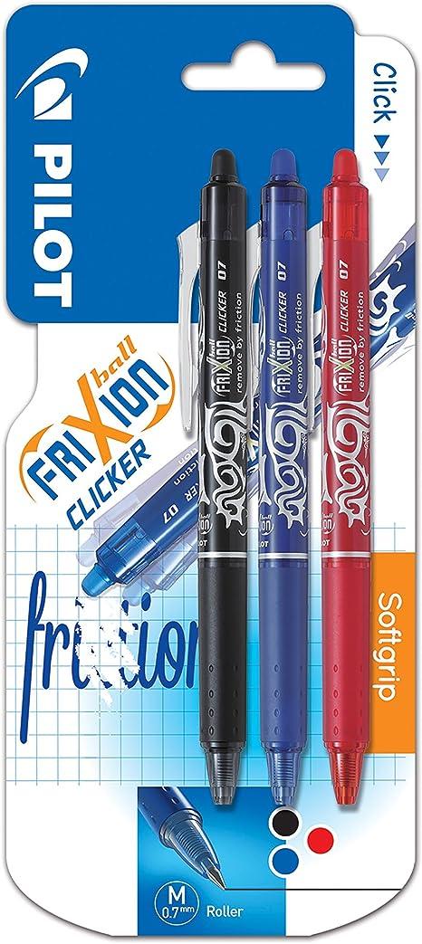 PILOTFrixion Clicker retractableRoller ball erasable pen 0.7mm RED INK