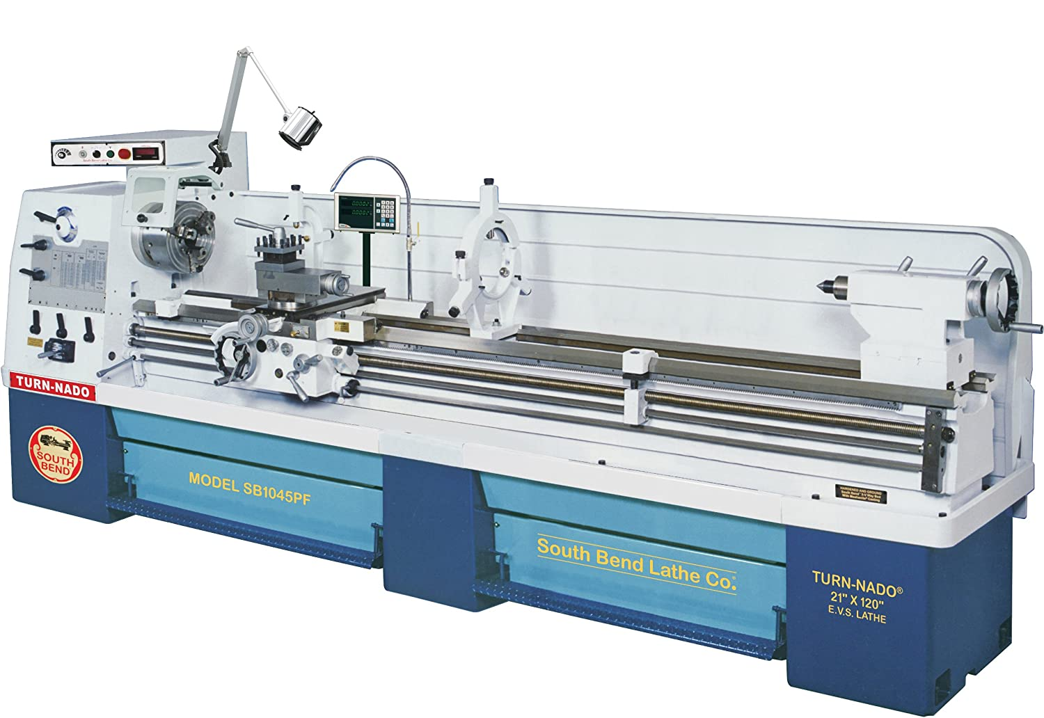 South Bend Lathe SB1045PF 21-Inch by 120-Inch EVS Lathe with
