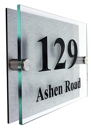 Premier Qualityglass Look Acrylic Personalised House Number Sign
