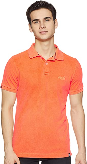 Superdry M11017RT7 - Vintage Destroyed Polo Hombre: Amazon ...