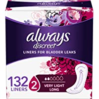 Discreet, Incontinence Liners, Very Light, Long Length, 132 Count
