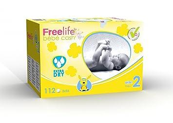 Freelife Bébé Cash Couches Taille 2 3 6kg 112 Couches Amazonfr