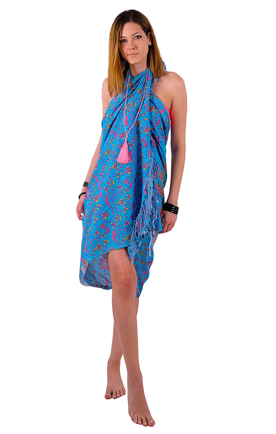 Tapestry Boho Chic Sarong Throw by Mandala Life ART Wall Hanging Dress Gorgeous Hand-Printed Bohemian Pareo Endlessly Versatile Uses: Bikini Swimsuit Cover Up Beach Blanket