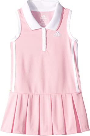 ae6eb8f5d07 Amazon.com: adidas Kids Baby Girl's Sleeveless Polo Dress (Toddler/Little  Kids): Clothing