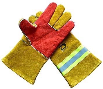 Guantes de soldadura ZaoProteks ZP17 resistentes al calor, guantes de trabajo, grandes, para