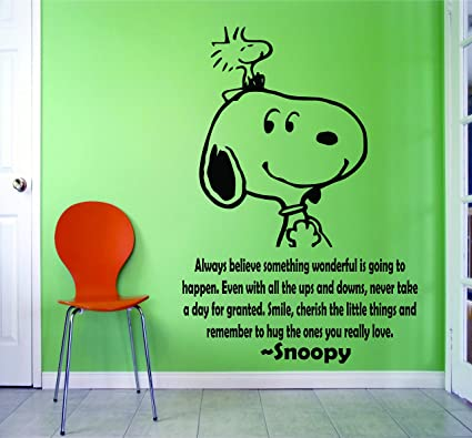 Amazon.com: SNOOPY WALL DECALS BEST FRIENDS QUOTES QUOTE ...