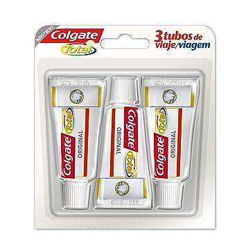 Colgate Total - Pasta de dientes para viajes - 3 x 19 ml: Amazon.es: Salud y cuidado personal