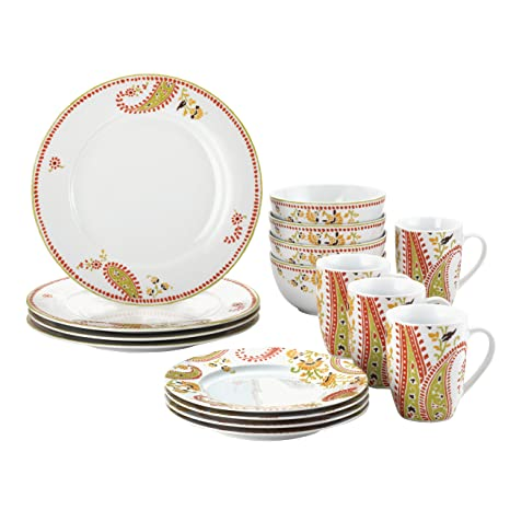Rachael Ray Dinnerware Paisley 16-Piece Dinnerware Set  sc 1 st  Amazon.com & Amazon.com | Rachael Ray Dinnerware Paisley 16-Piece Dinnerware Set ...