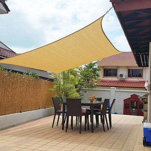 Artpuch Toldo de toldo, 185GSM, bloqueo UV para patio, jardín, instalaciones y actividades al aire libre: Amazon.es: Jardín
