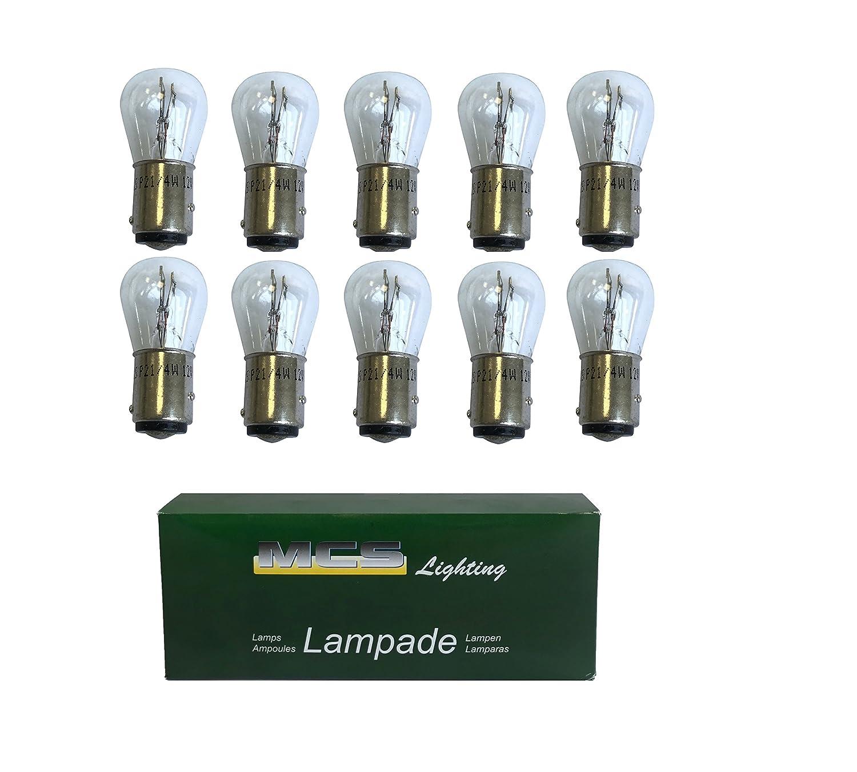 Melchioni 322199122 Ampoule 12 V 4/21 W Baz 15d, Lot de 10
