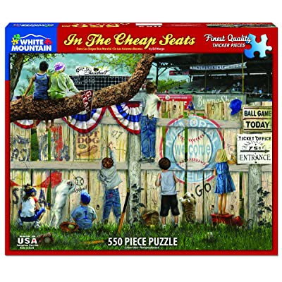 """White Mountain Puzzles in The Seats - Baseball Puzzle - 24"""" X 30"""": Toys & Games"""