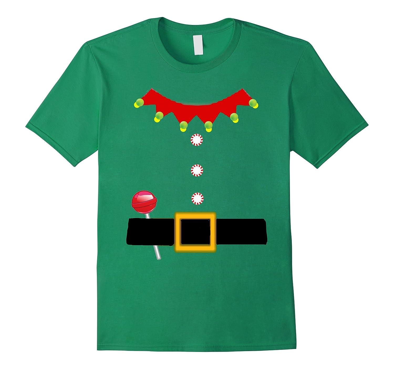 Santa Elf Costume T Shirt Tee Christmas Cute Fun Cheer-ANZ