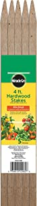 Bond Manufacturing SMG12062 Hardwood Stakes, 4-Feet x 3/4 by 3/4-Inch, 5-Pack, Brown/A