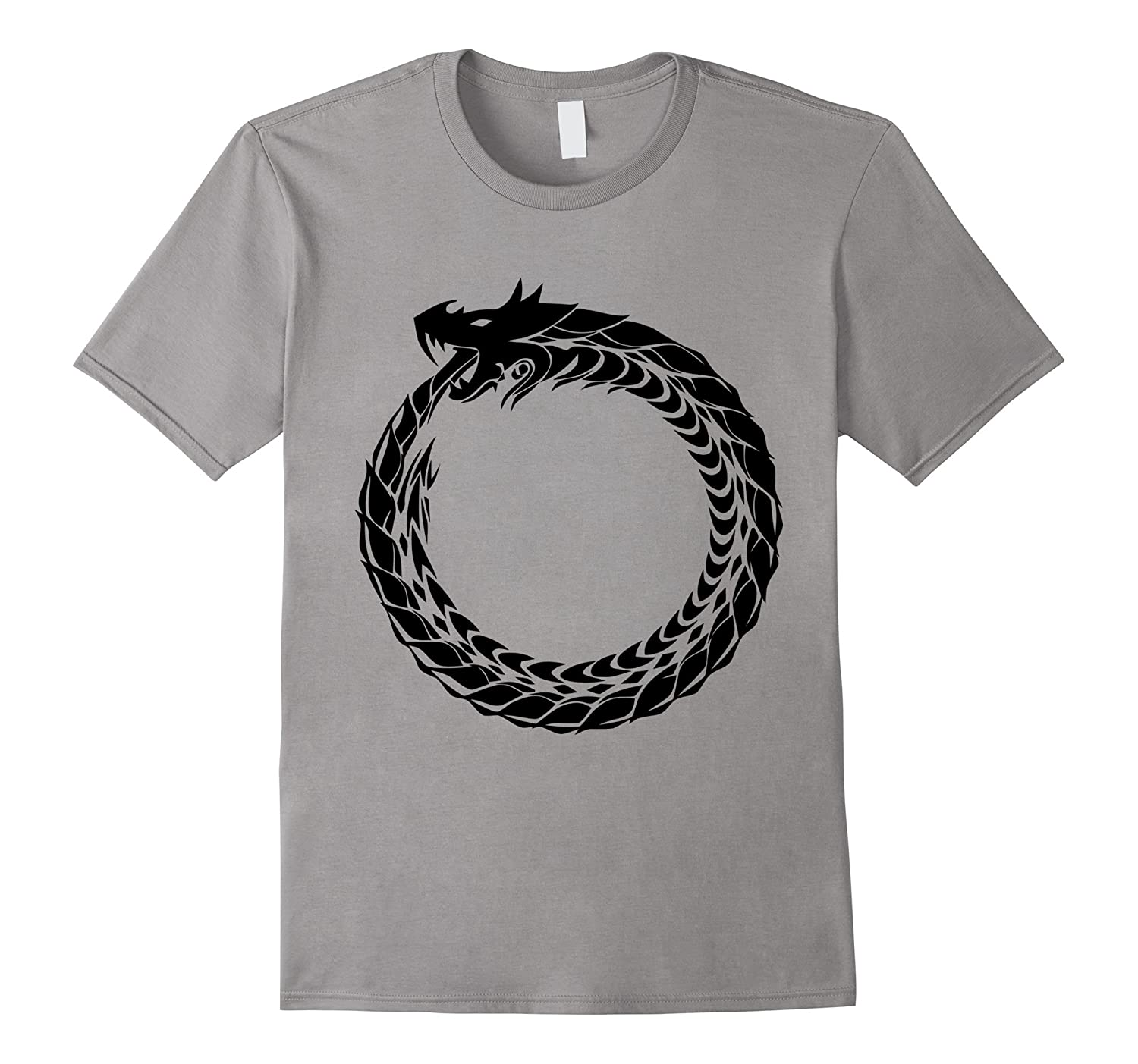 Ouroboros T-Shirt Snake Eating Tail Ancient Symbol Tee-ANZ