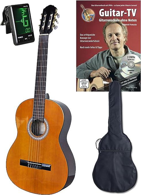 4/4 Guitarra de concierto, set con DVD de guitarra Escuela Guitar ...