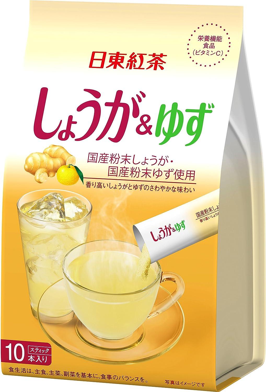 日東紅茶 しょうが&ゆず スティック 10本入り ×6個