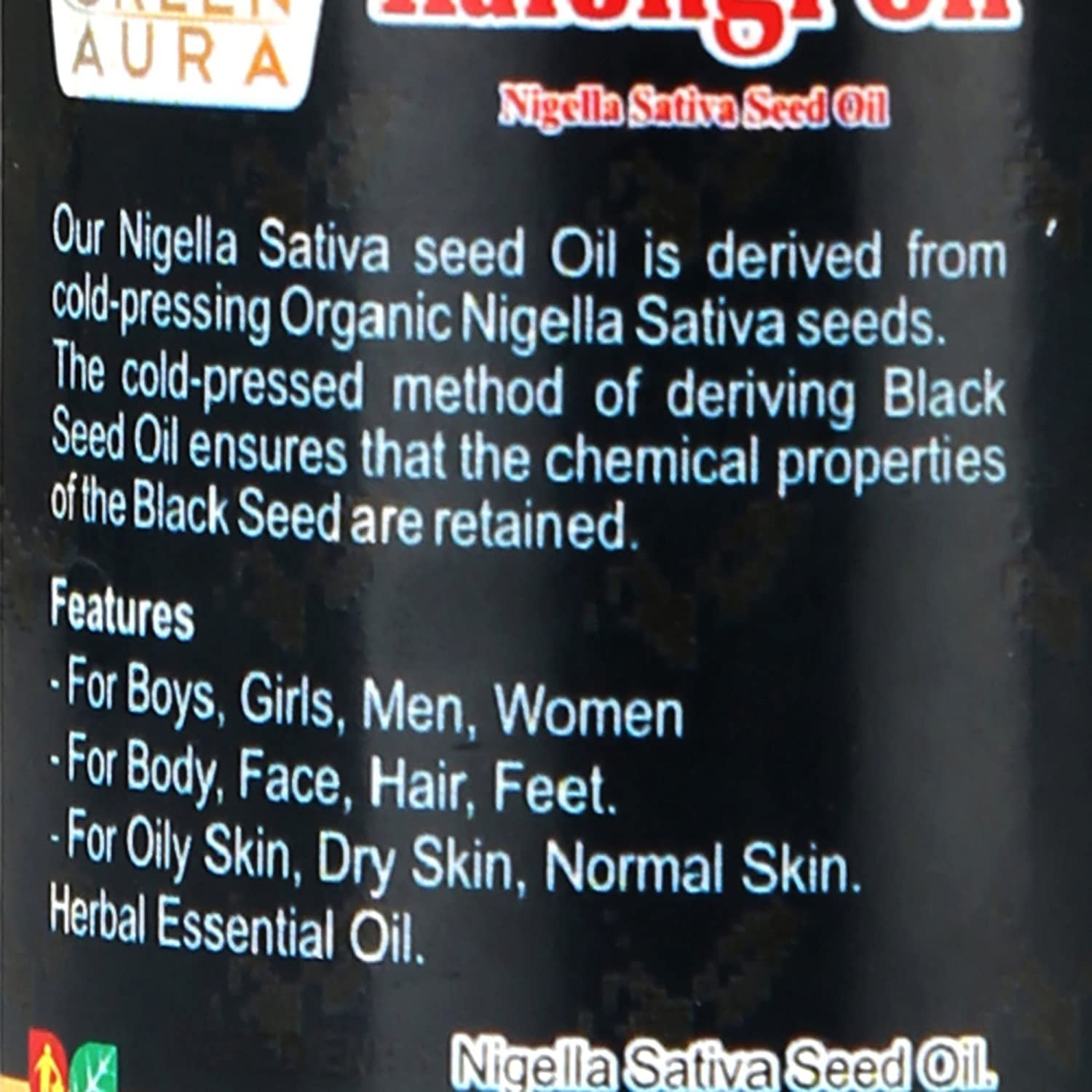 Buy green aura premium kalonji oil with bhringraj oil and menthol buy green aura premium kalonji oil with bhringraj oil and menthol oil 100 ml online at low prices in india amazon fandeluxe Gallery