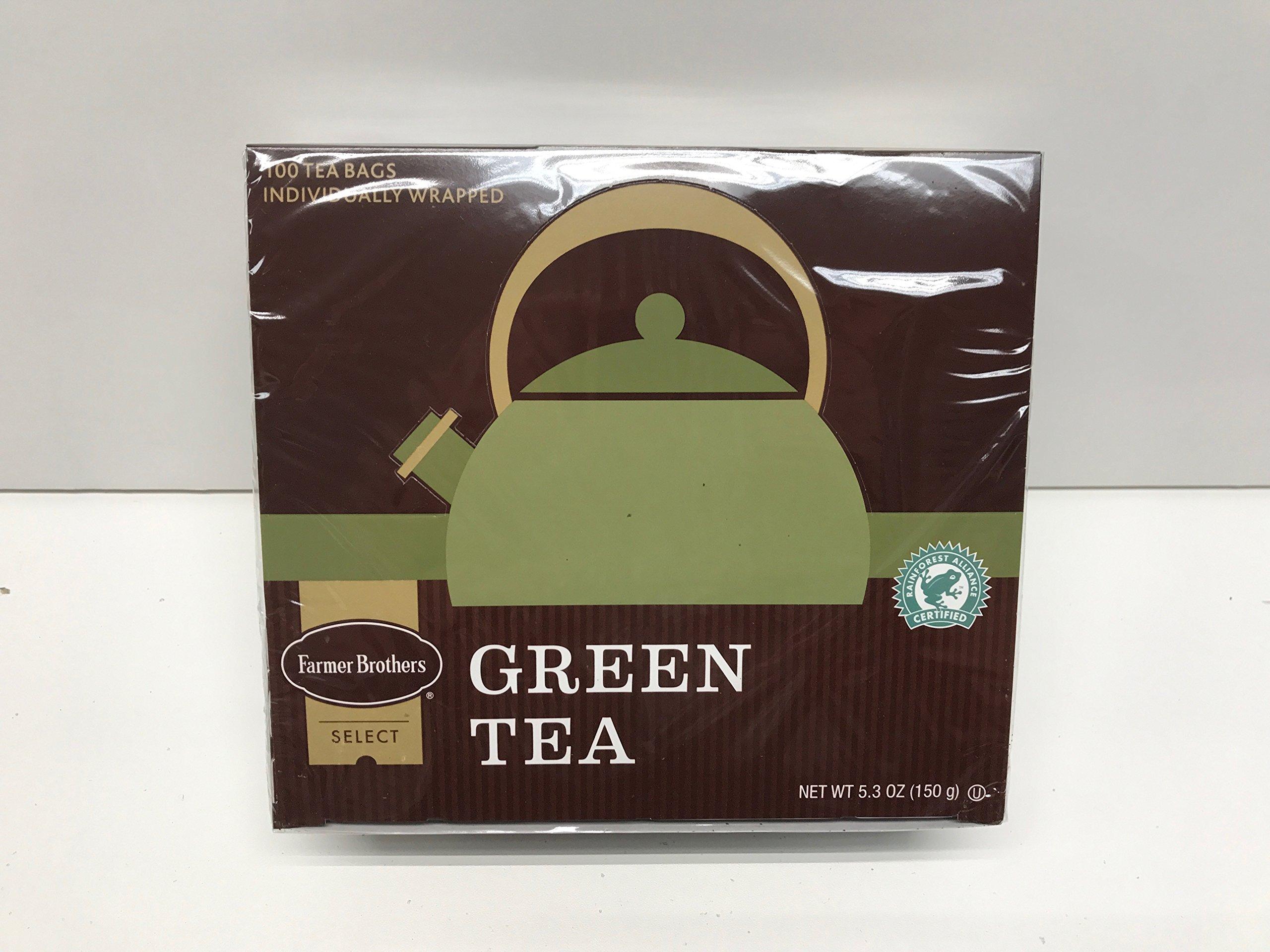 Farmer Brothers Tea Bags - Green Tea, 1 box - 100 count