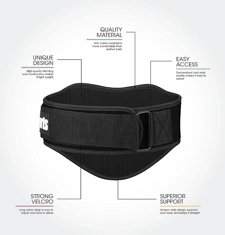 Premium Cinturón De Levantamiento De Pesas Para Levantamiento de pesas - mejor - Cinturón para hombres y mujeres - apoyo espalda cinturón para sentadillas, ...