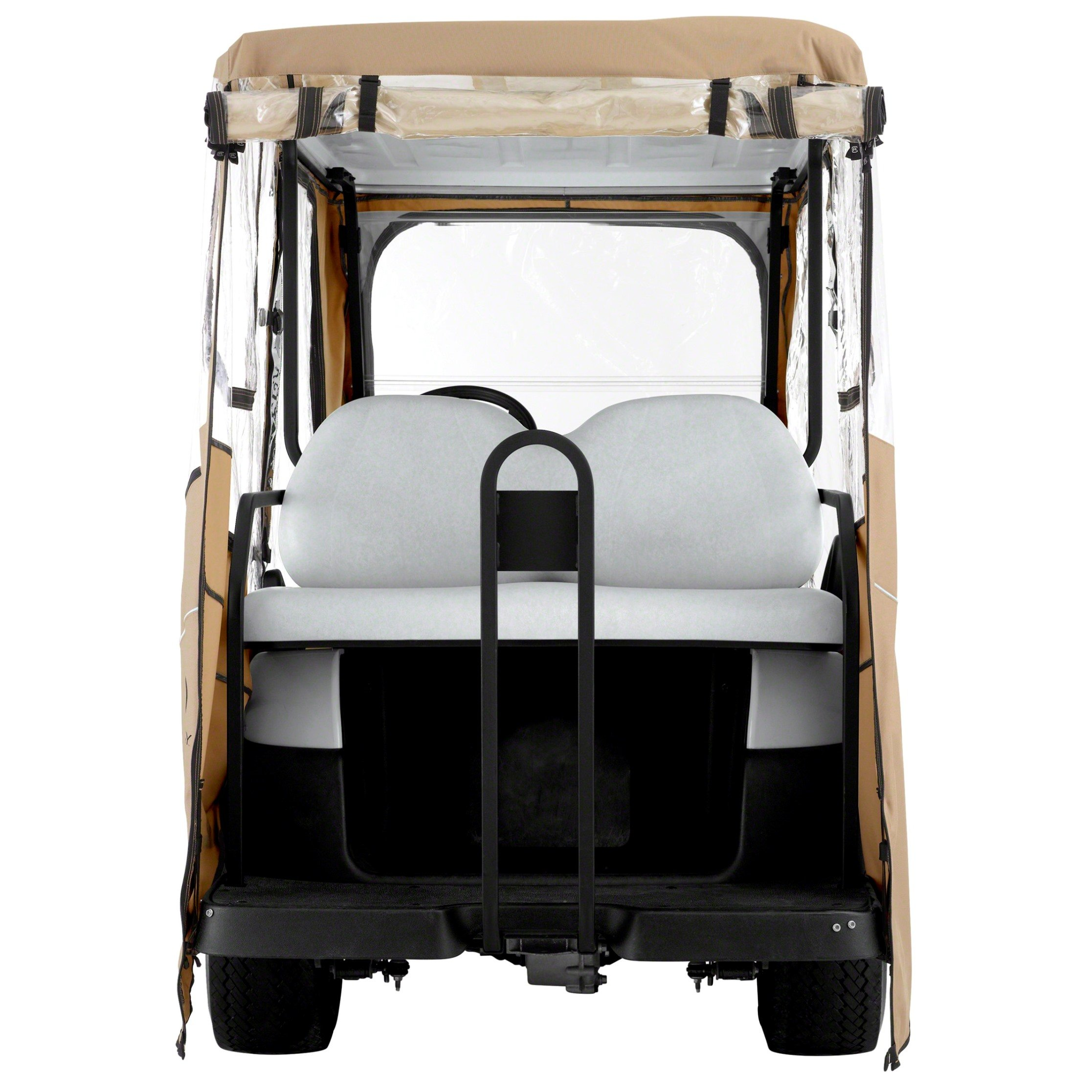 Classic Accessories Fairway Golf Cart Deluxe Enclosure, Khaki, Extra Long Roof by Classic Accessories (Image #3)