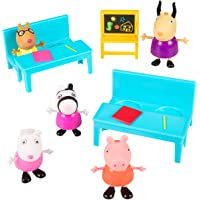 Peppa Pig School Time Figure Playset, 8 Pieces - Have Fun with Peppa & Friends - Age 2+